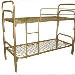 Металлические кровати двухъярусные для бытовок, вагончиков, кровати крупный и мелкий опт
