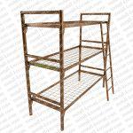 Кровать с металлической спинкой, кровать двухъярусная металлическая, кровати металлические