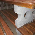 Лавочки с бетонным основанием.Парковые скамейки.