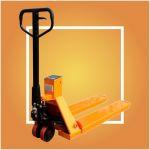 Вилочная гидравлическая тележка - весы 2000 кг