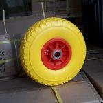 тележка с поворотной осью 800х1500 на желтых бескамерных колесах